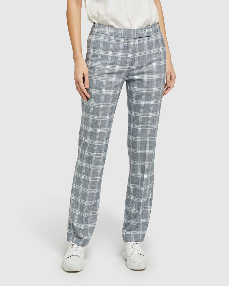 DANICA SUIT TROUSERS NAVY CHECK