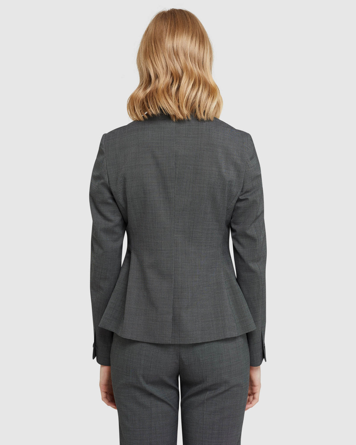 CHICA WOOL STRETCH SUIT JACKET CHARCOAL