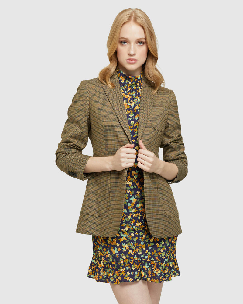 PETRA PATCH POCKET ECO CHECK BLAZER