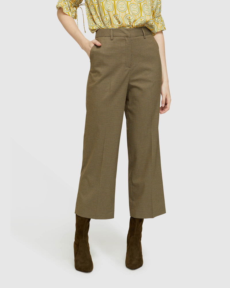 HELENA ECO CROP CHECK PANTS