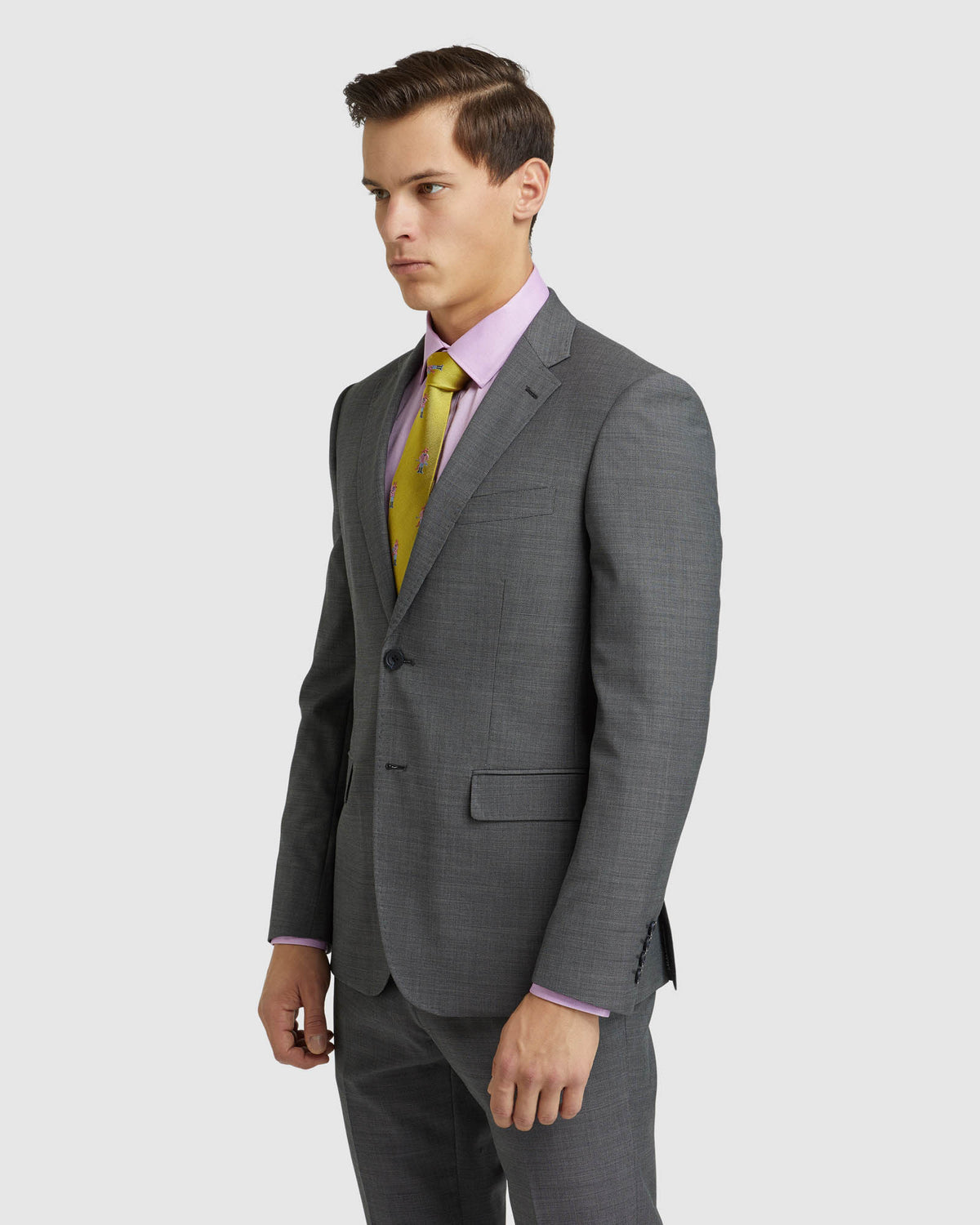 BYRON WOOL SUIT JACKET CHARCOAL