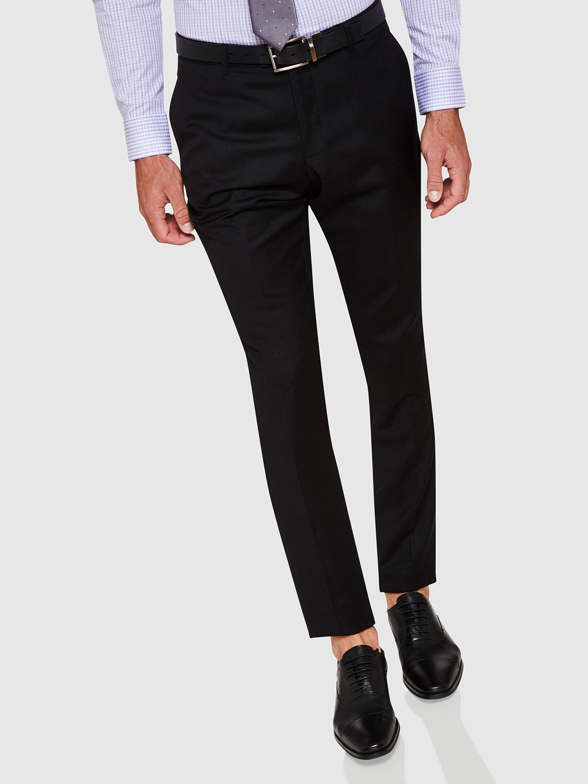 HOPKINS WOOL TROUSERS BLACK
