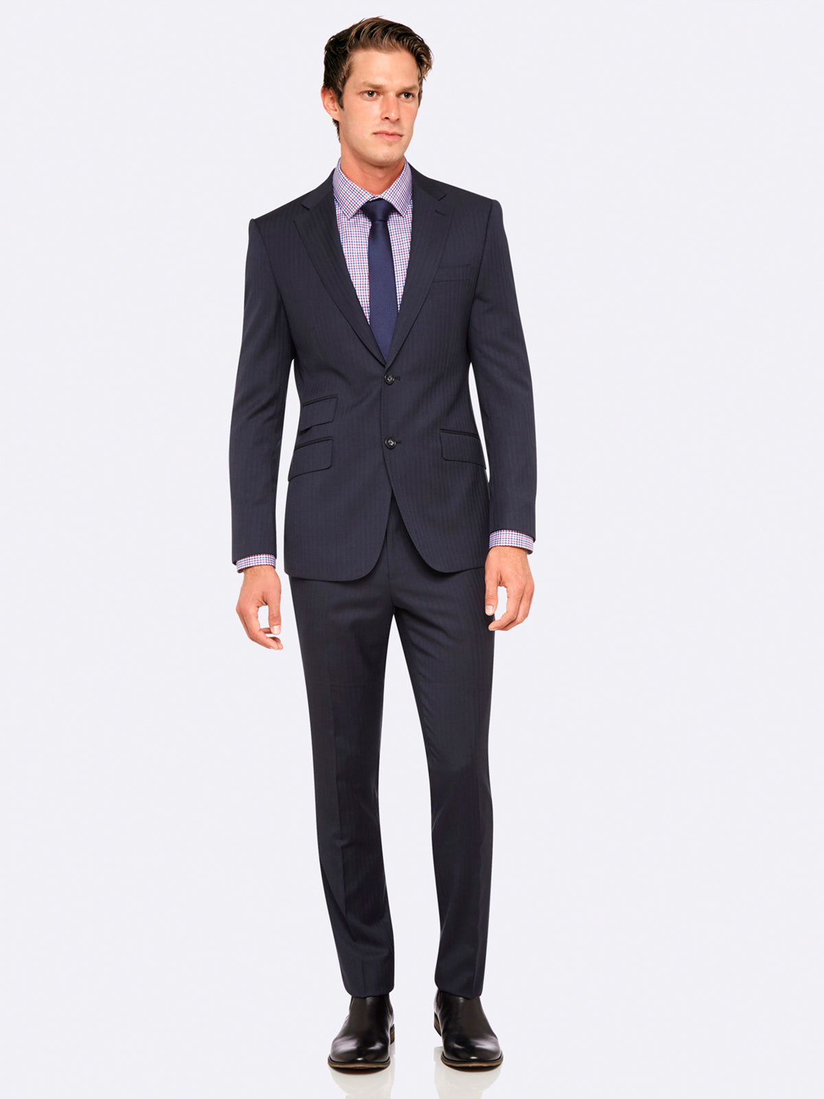 MARLOWE WOOL SUIT JACKET CHARCOAL
