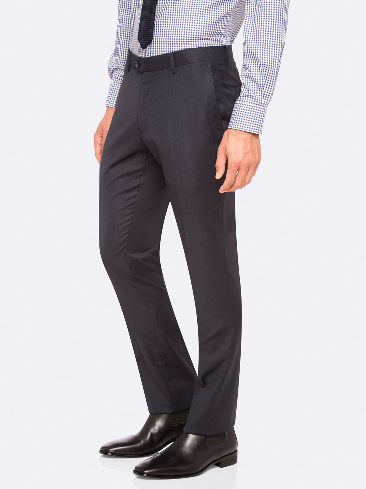 HOPKINS WOOL SUIT TROUSERS CHAR