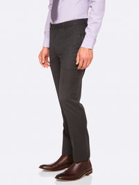 MARLOWE WOOL SUIT TROUSERS GREY