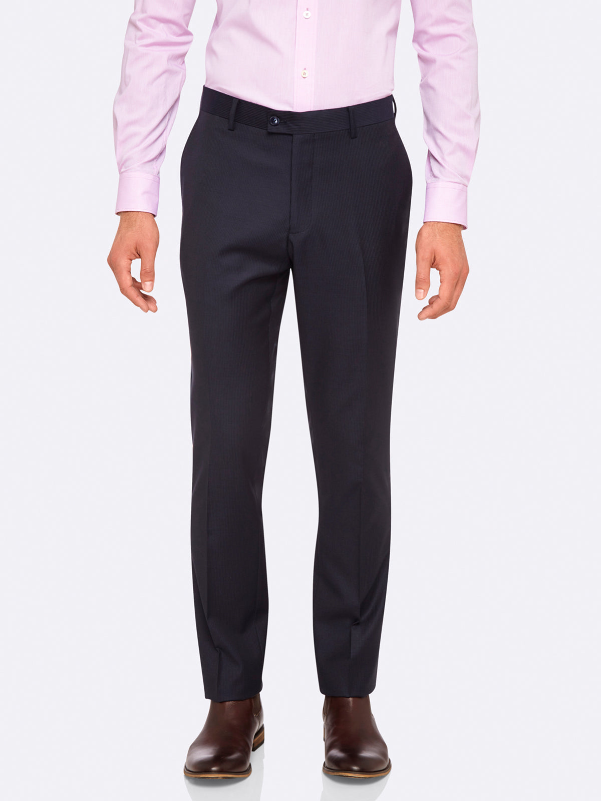 HOPKINS WOOL SUIT TROUSERS NVY