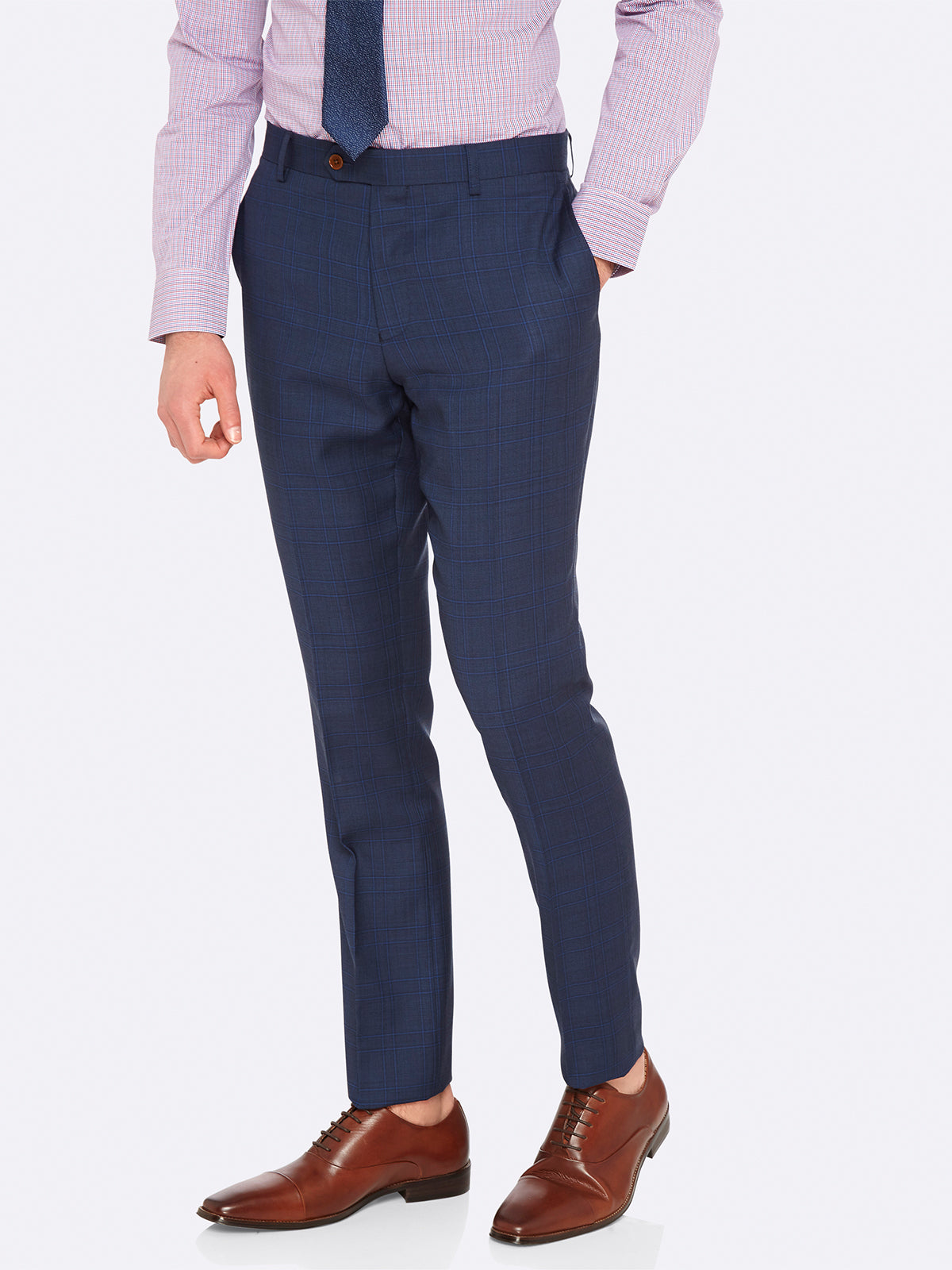 MARLOWE LUX SUIT TROUSERS BLUE