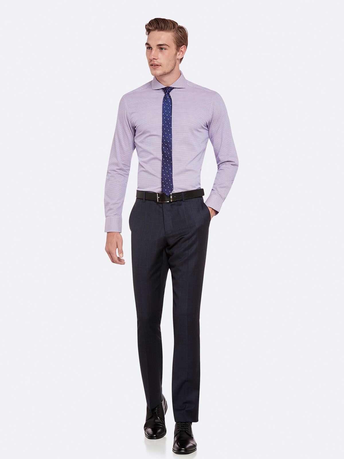 HOPKIN WOOL SUIT TROUSERS CHAR