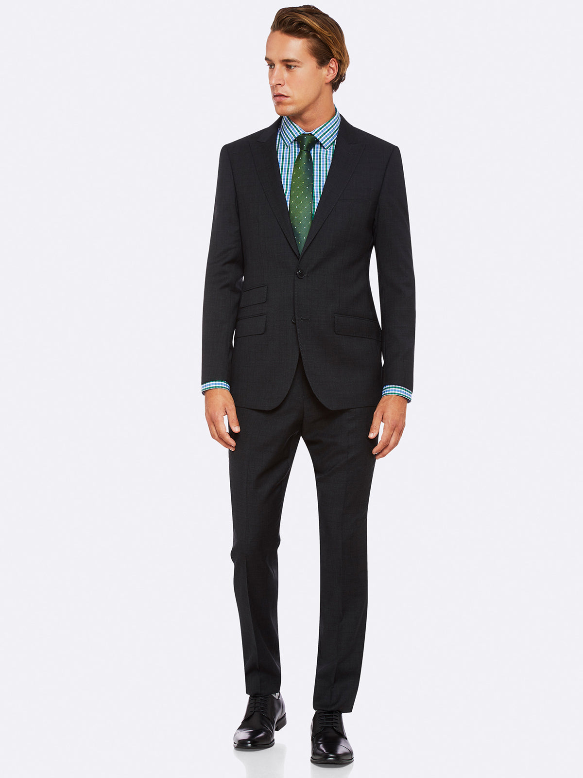 HOPKINS PEAK LAPEL WOOL SUIT JAKETX