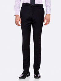 HOPKINS WOOL SUIT TROUSERS INK