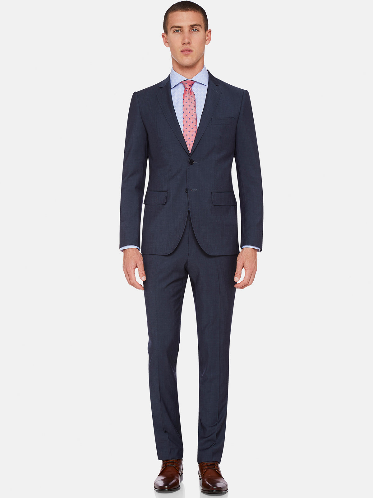 AUDEN WOOL LUXURY SUIT TROUSERS GUNMETAL