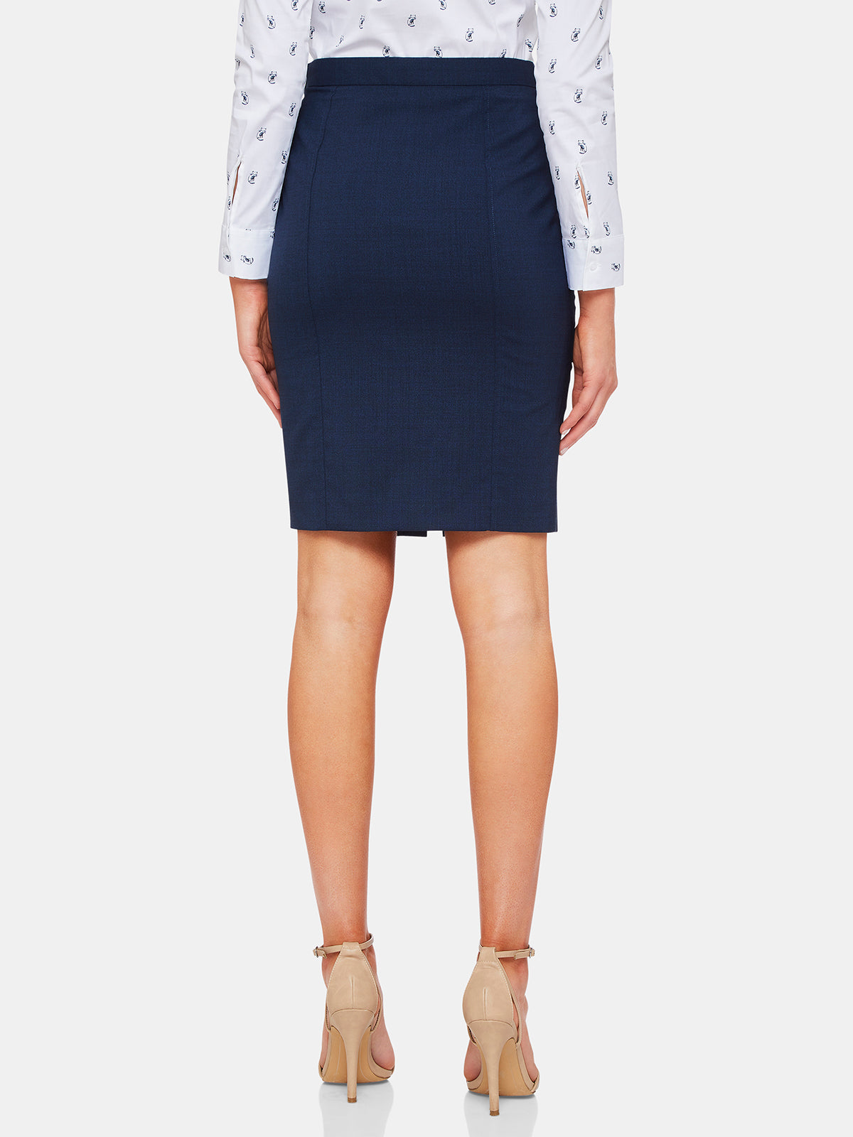 ALICE WOOL STRETCH SKIRT BLUE