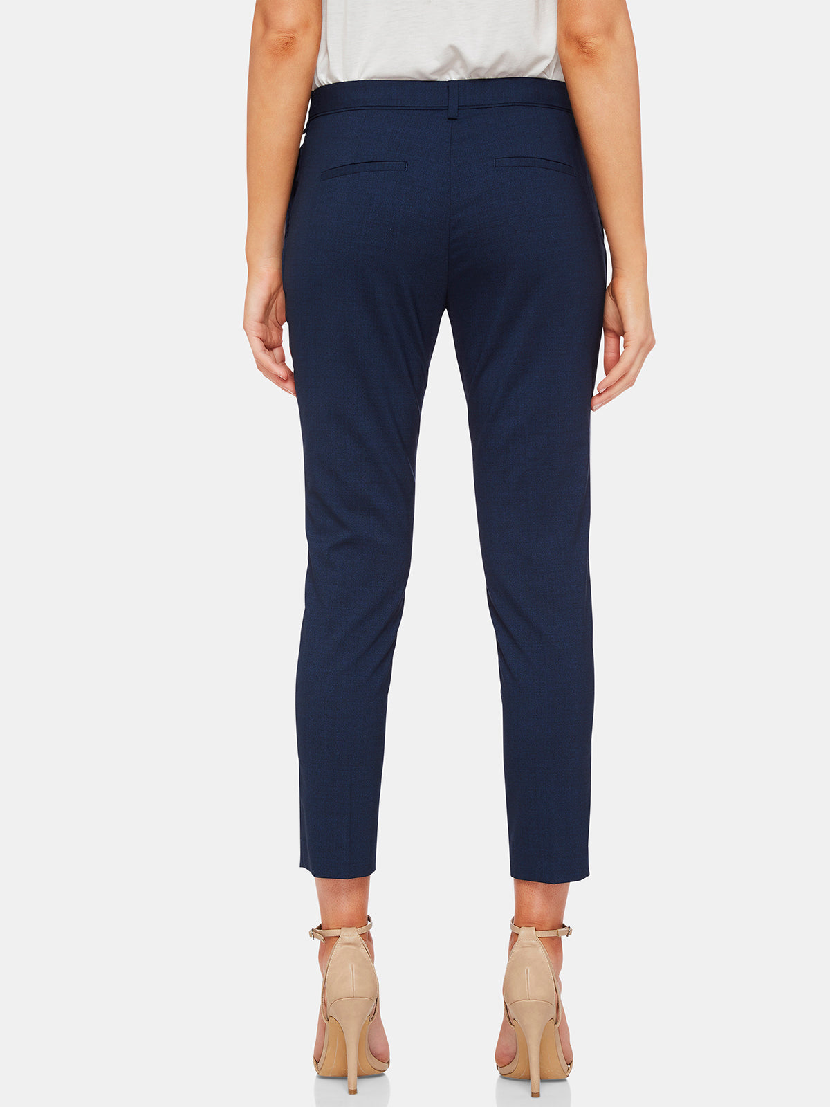 MIA WOOL STRETCH SUIT TROUSERS BLUE