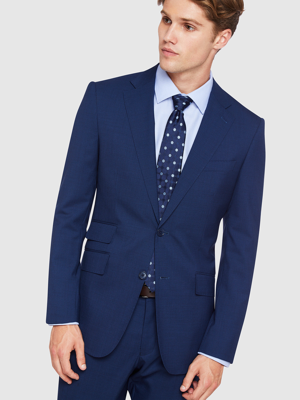 MARLOWE WOOL SUIT JACKET NAVY