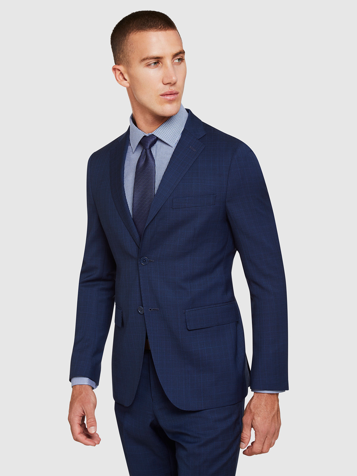 BYRON WOOL SUIT JACKET BLUE