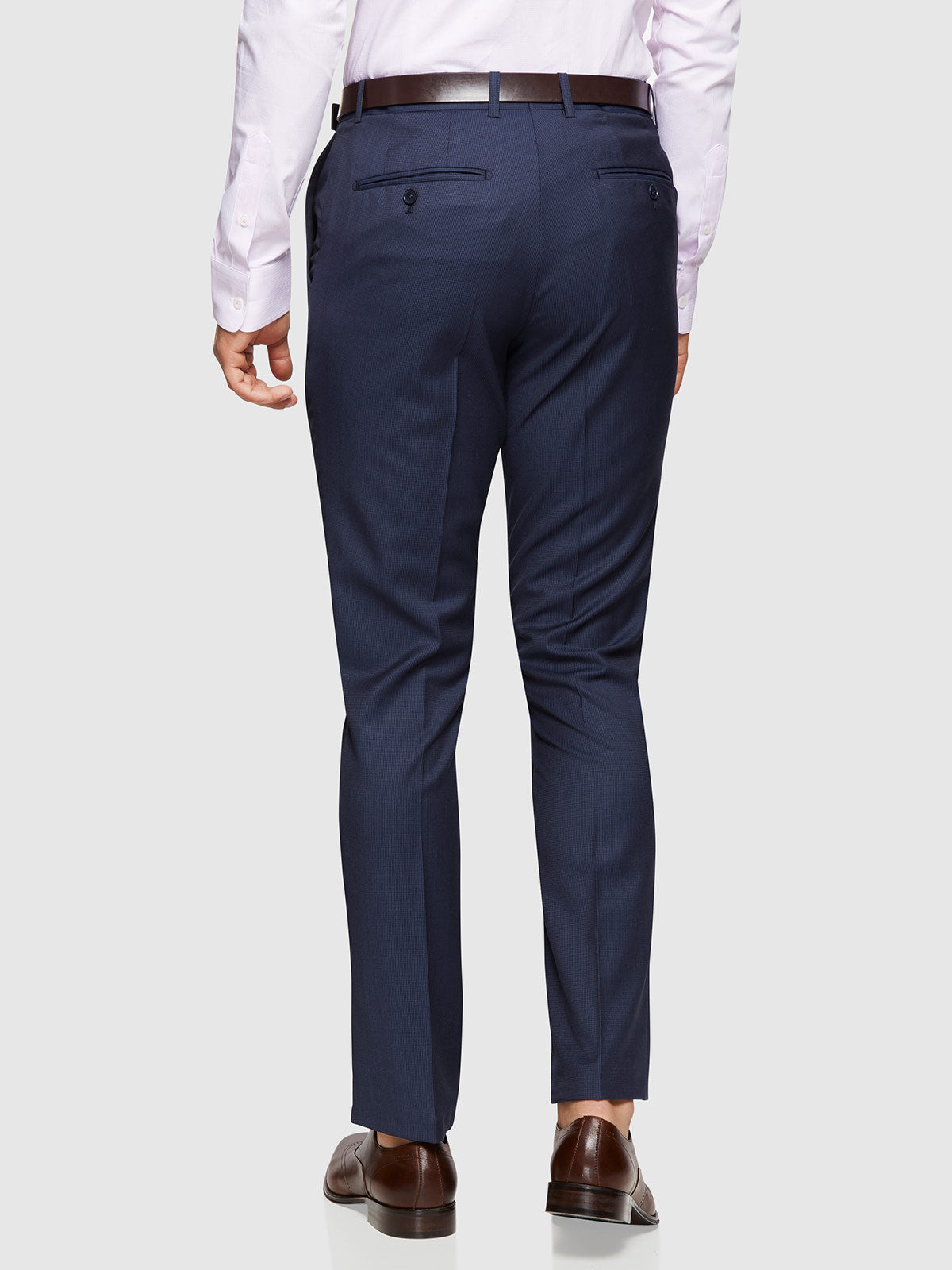 BYRON WOOL SUIT TROUSERS BLUE