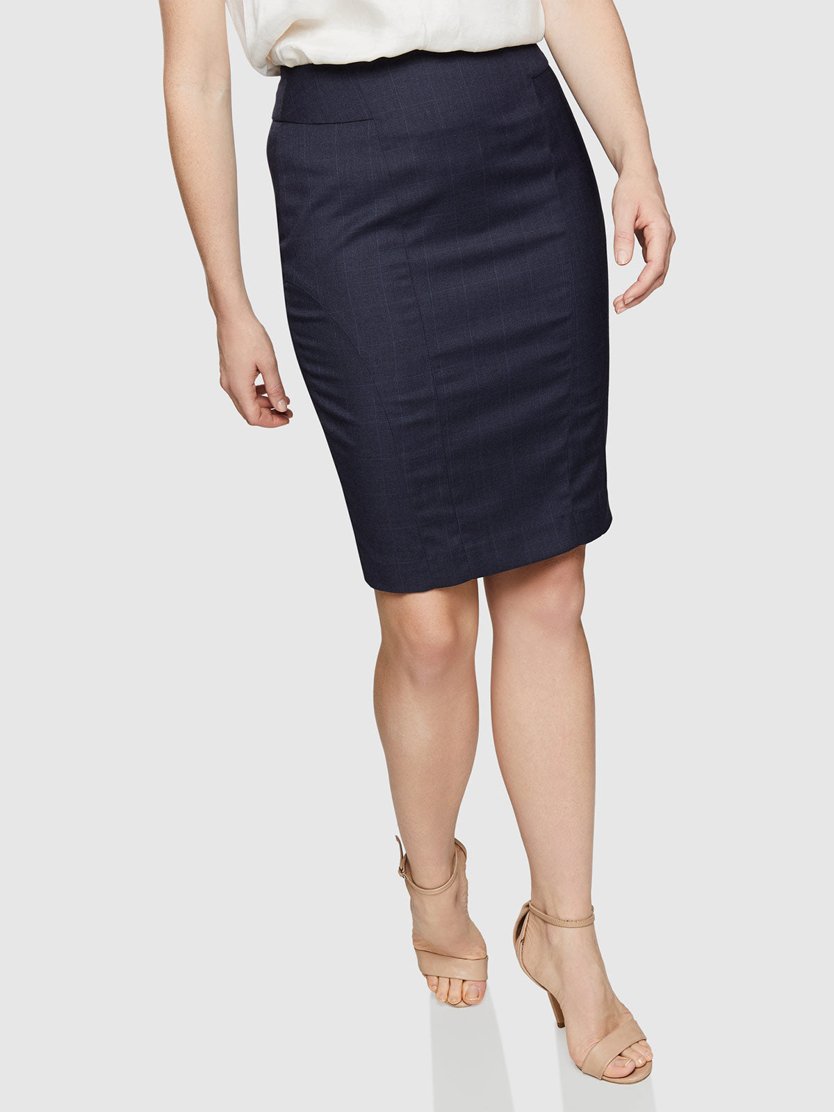 MONROE SUIT SKIRT DARK NAVY