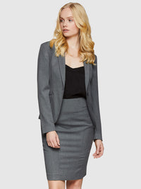 PIXIE SUIT JACKET CHARCOAL