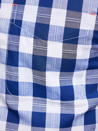 UXBRIDGE CHECKED SHIRT BLUE