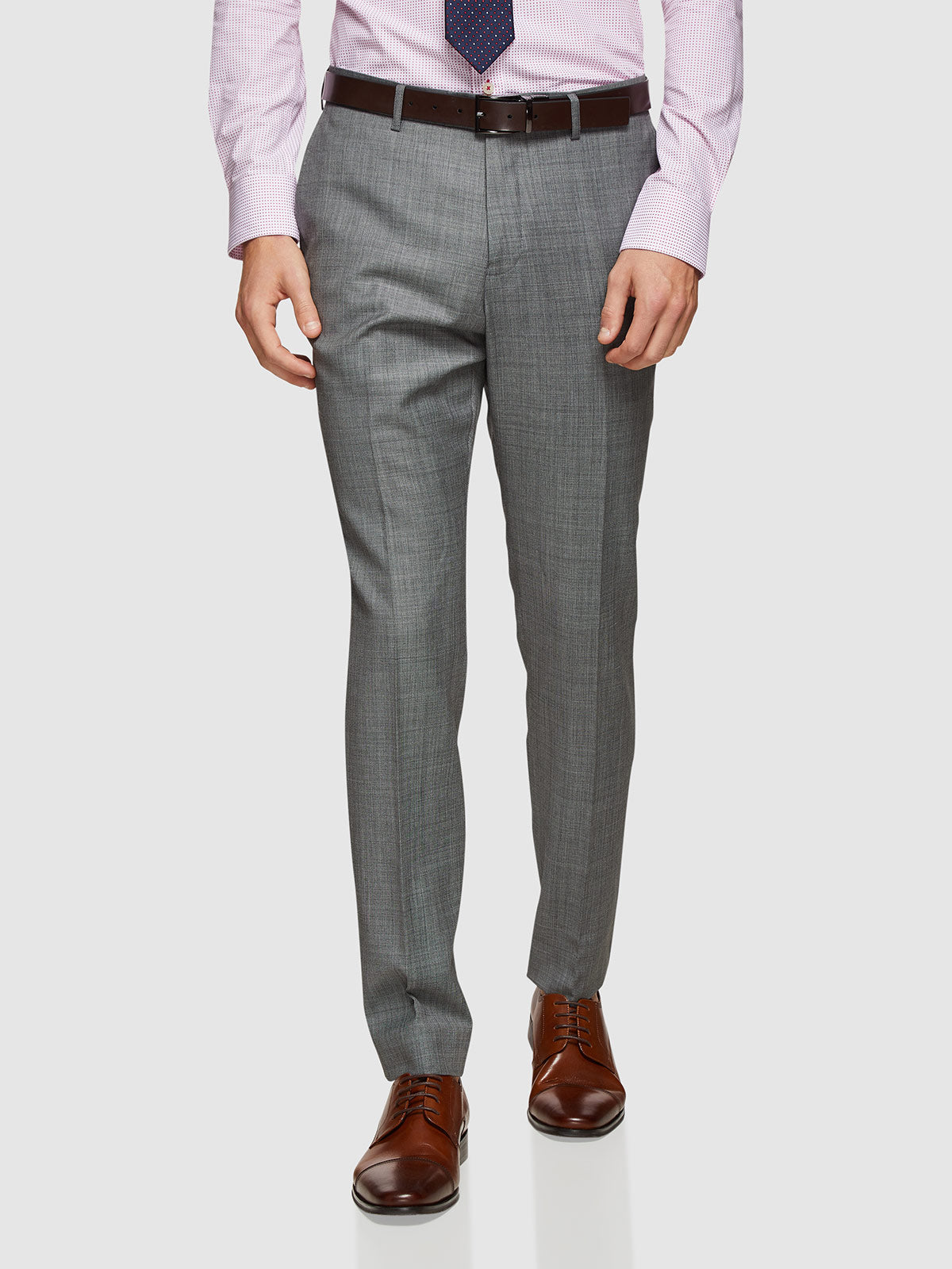 HOPKINS WOOL STRETCH SUIT TROUSER GREY