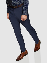 HOPKINS WOOL SUIT TROUSERS GUNMETAL