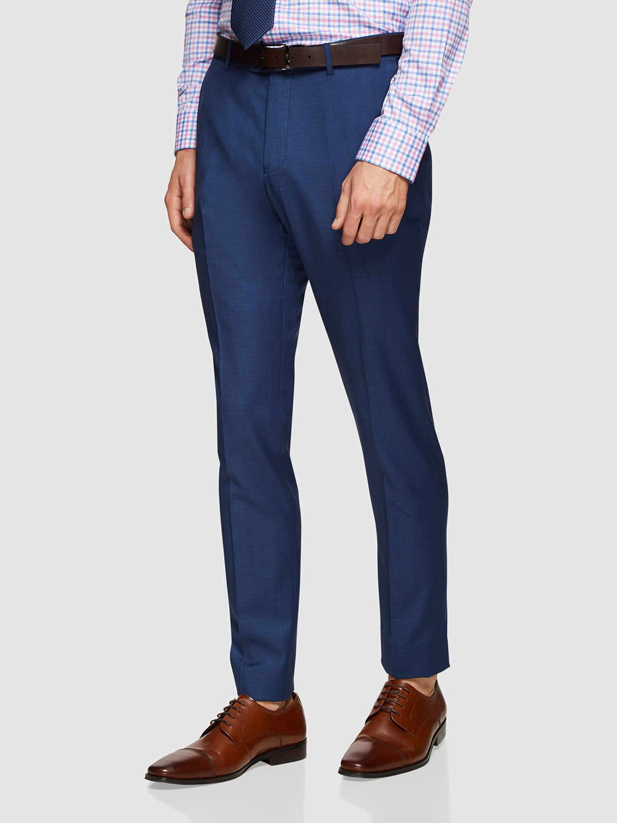 HOPKINS WOOL SUIT TROUSERS BLUE