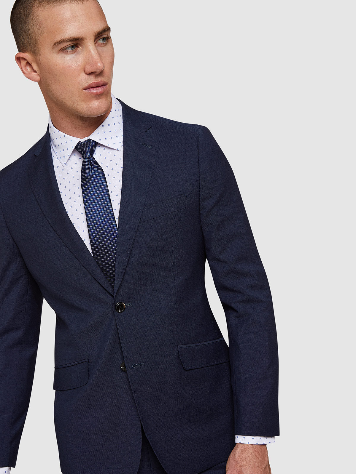 AUDEN WOOL SUIT JACKET BLUE