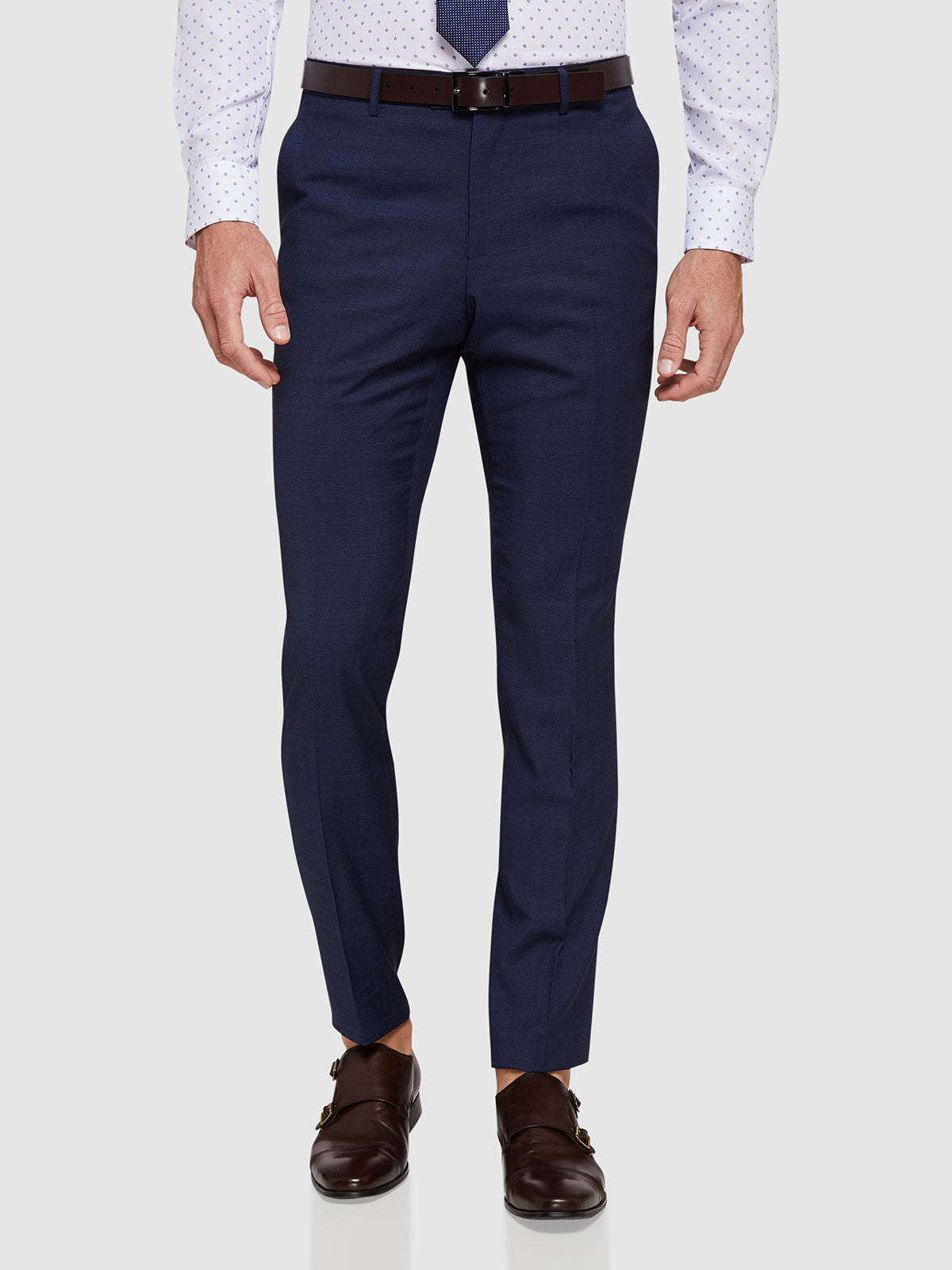 AUDEN WOOL SUIT TROUSERS BLUE