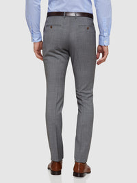 HOPKINS WOOL MOHAIR SUIT TROUSERS GREY