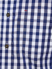 TOTTENHAM CHECKED S/S SHIRT NAVY