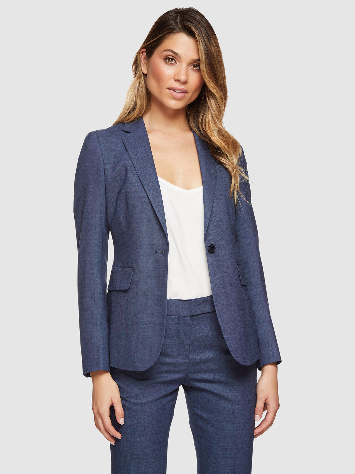 ALEXA WOOL STRETCH SUIT JACKET BLUE