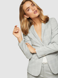 ALEXA CHECK SUIT JACKET GREY CHECK