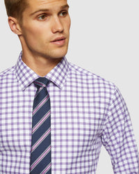 BECKTON FRENCH CUFF CHECKED SHIRT