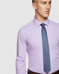 BECKTON CHECKED SHIRT PINK/BLUE