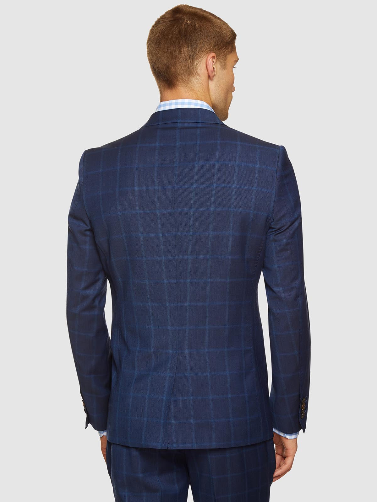 AUDEN WOOL SUIT CHECKED JACKET