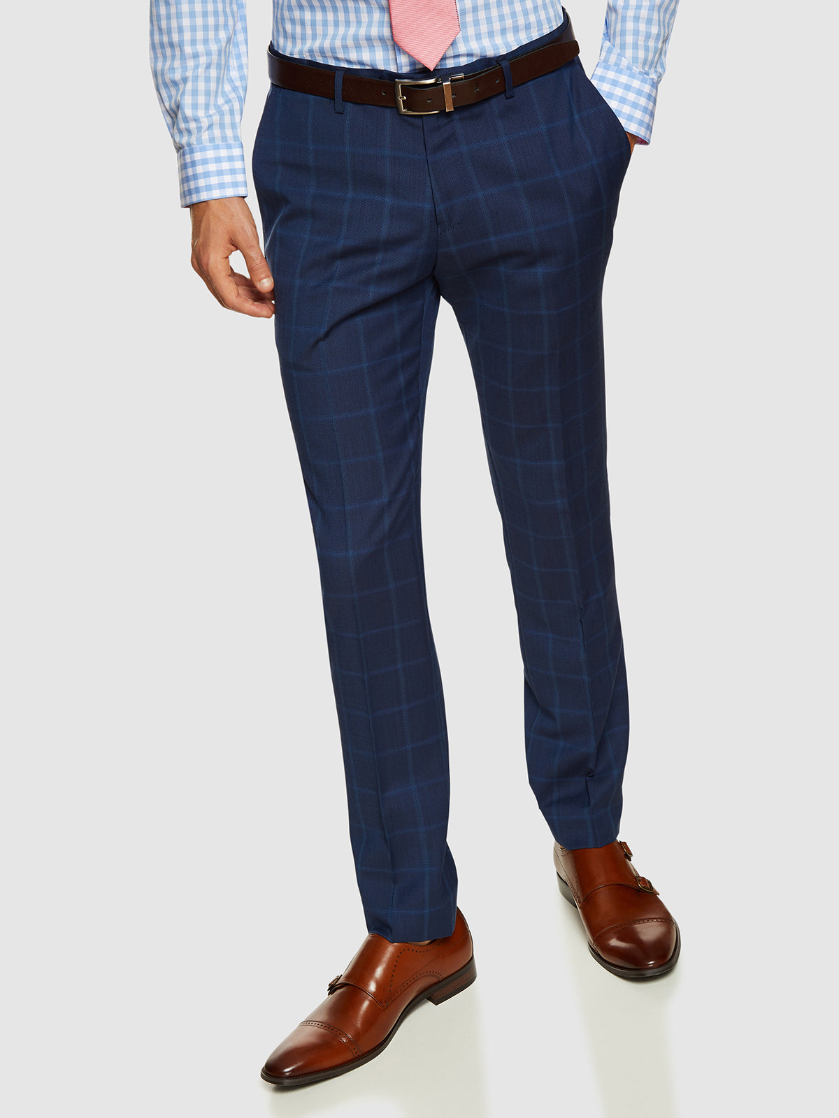 AUDEN WOOL SUIT CHECKED TROUSERS