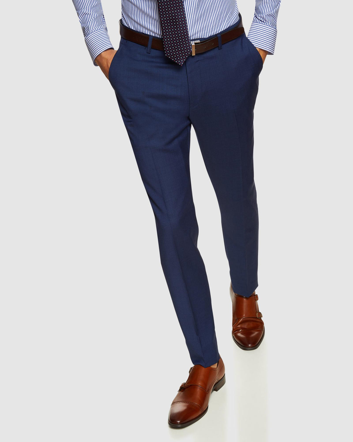 BYRON WOOL SUIT TROUSERS