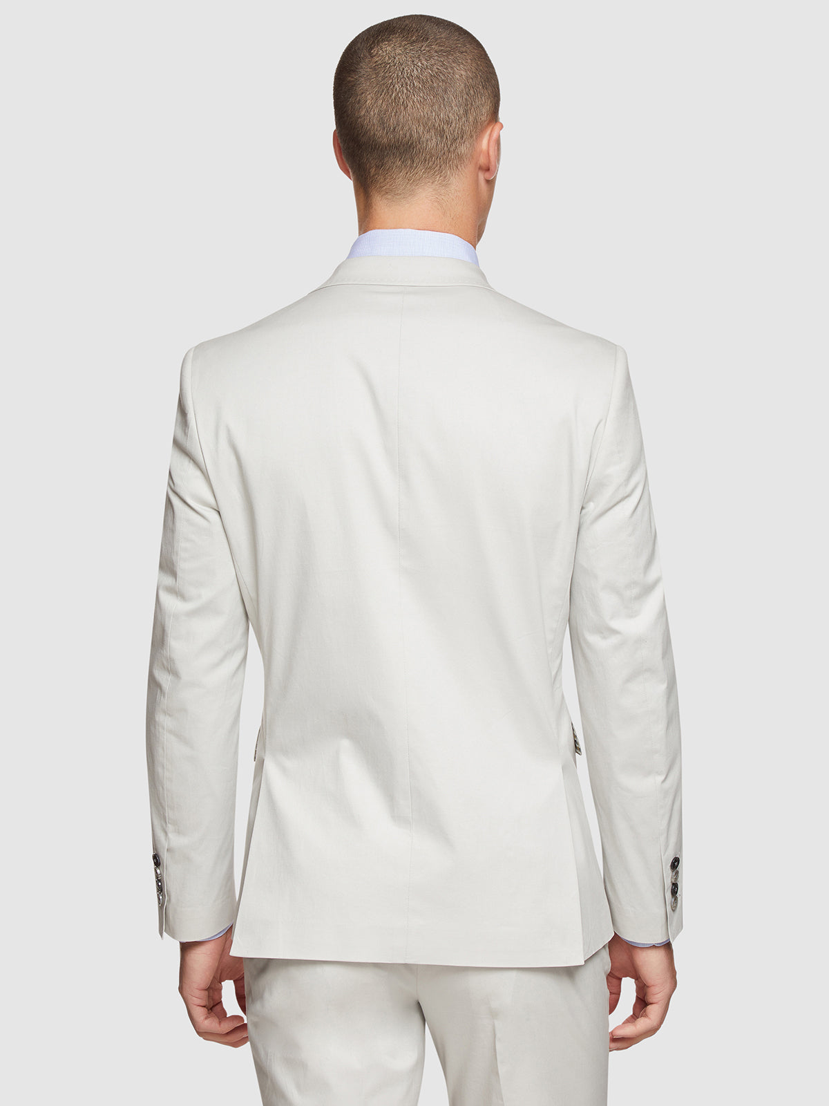 BYRON COTTON STRETCH SUIT JACKET SILVER
