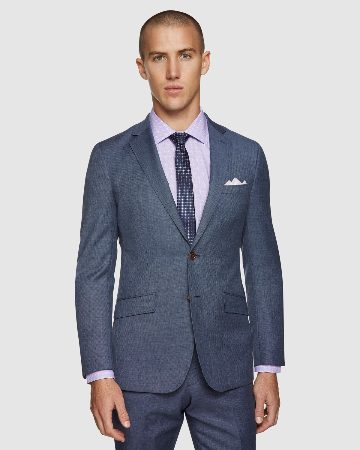 NEW HOPKINS WOOL STRETCH JACKET BLUE