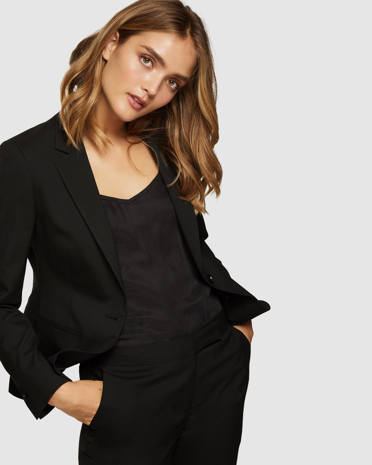 CHICA ECO BLACK SUIT JACKET BLACK
