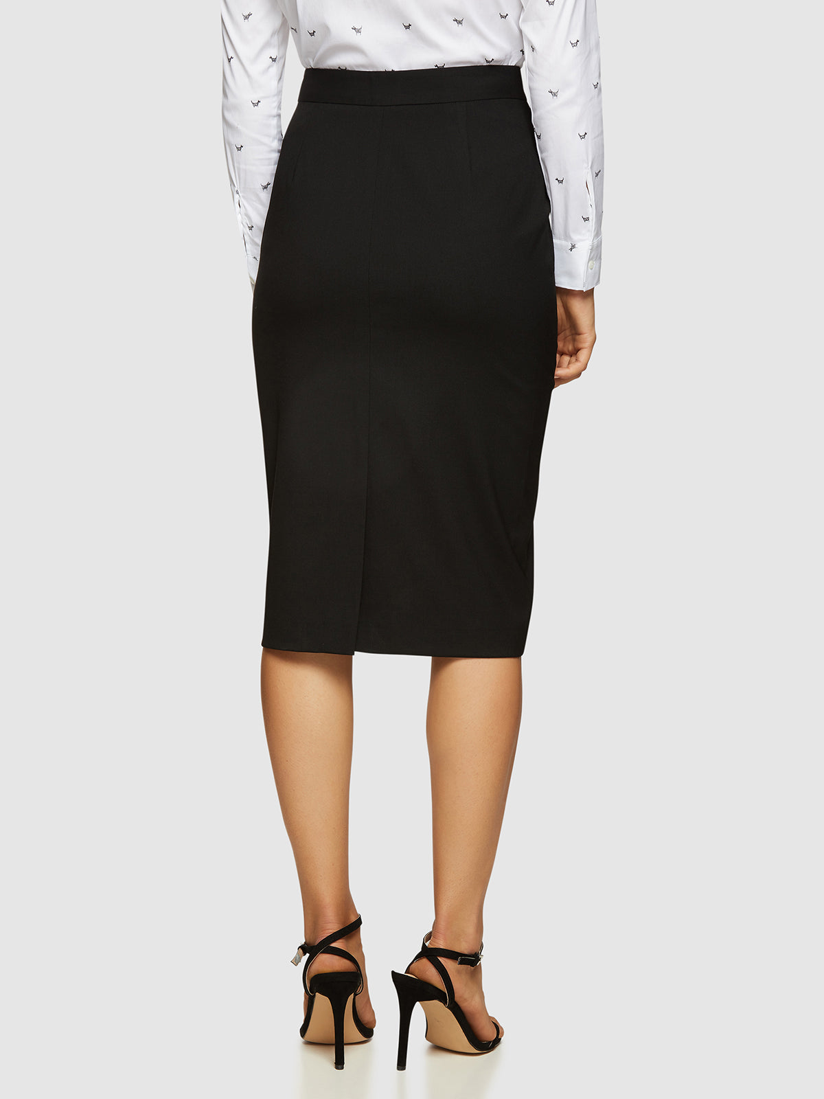 PEGGY ECO BLACK SUIT SKIRT BLACK