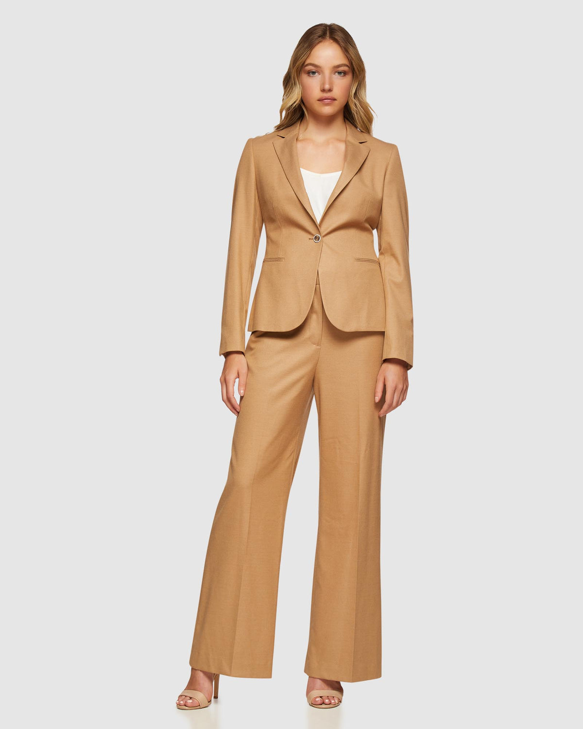 CHICA ECO SUIT JACKET CAMEL