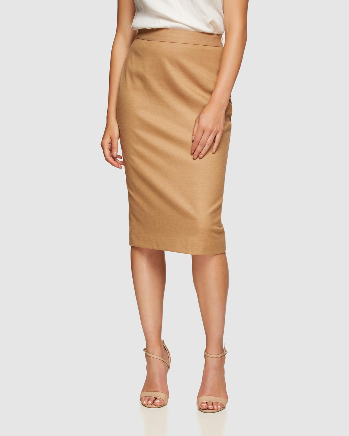 PEGGY ECO SUIT SKIRT CAMEL