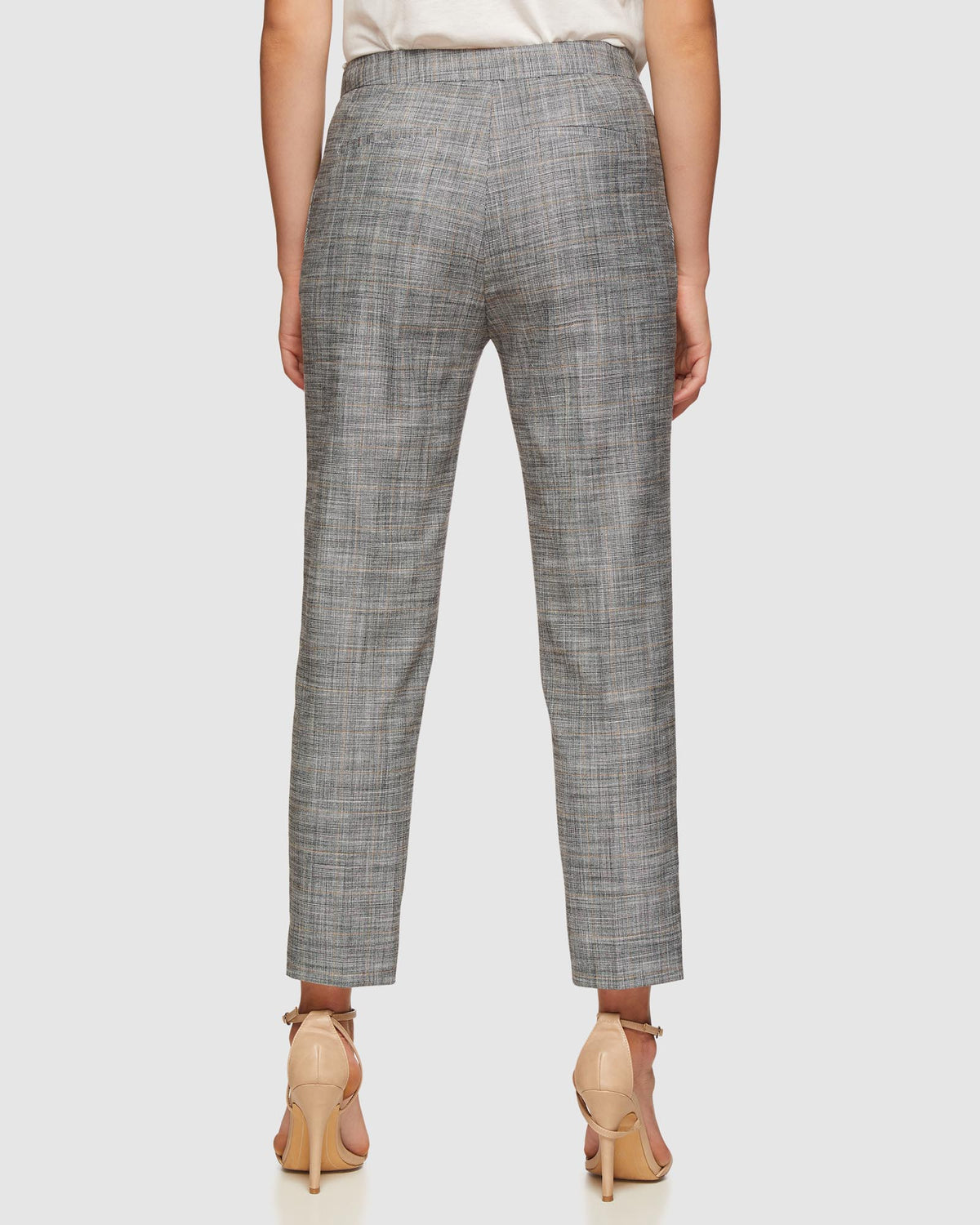 CHARLA ECO CHECKED SUIT TROUSERS GREY CHECK
