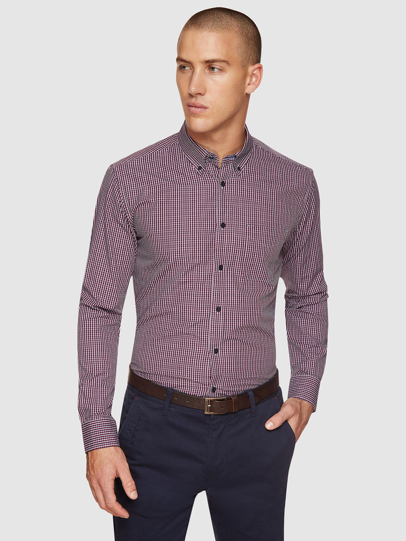 UXBRIDGE REGULAR FIT SHIRT OXBLOOD