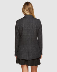 LOLA CHECKED BLAZER