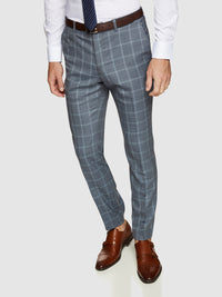 HOPKINS WOOL CHECKED TROUSERS