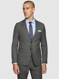 AUDEN WOOL STRETCH SUIT JACKET GREY