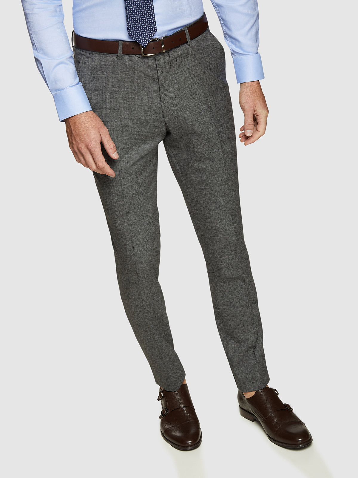 AUDEN WOOL STRETCH SUIT TROUSERS GREY