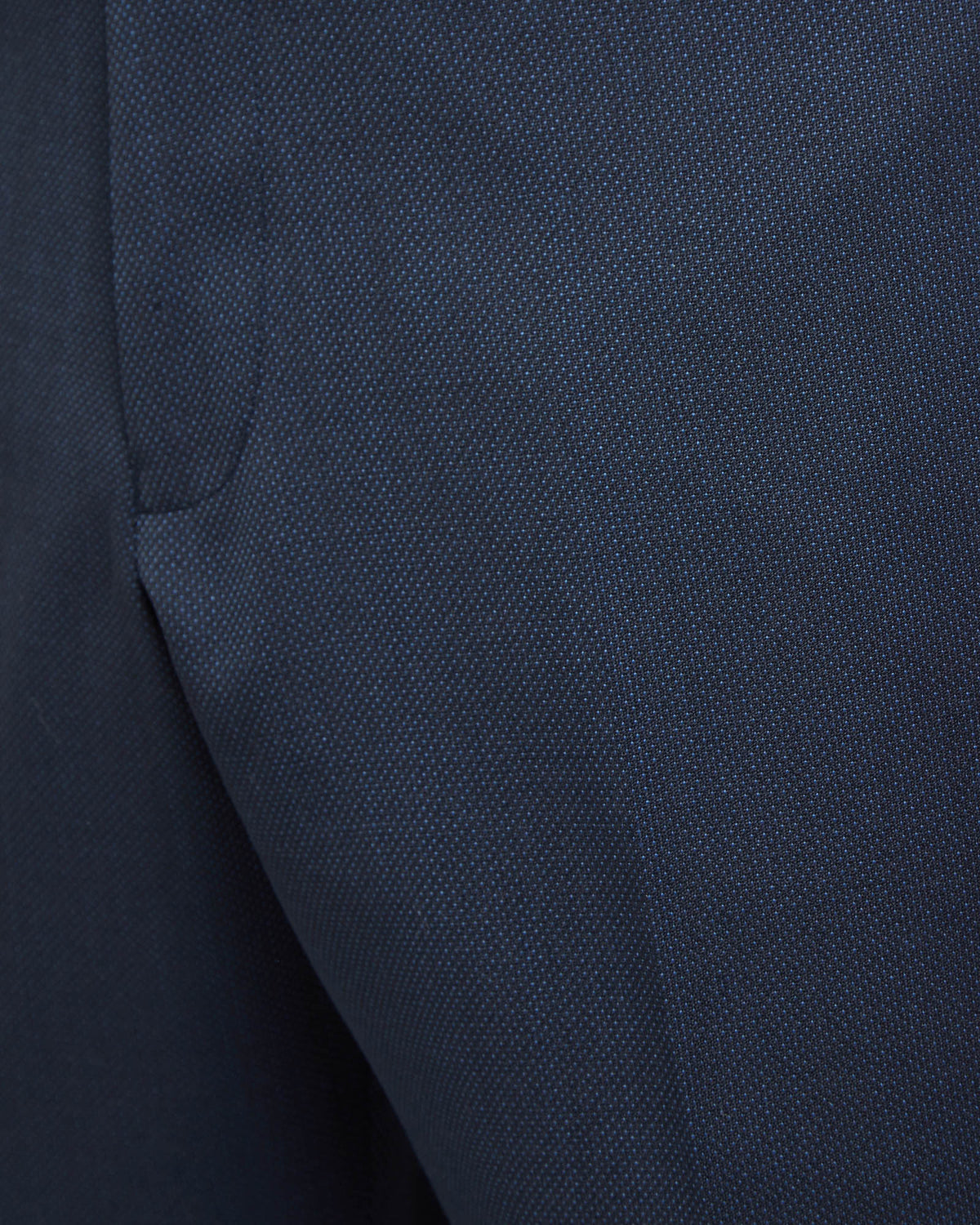 HOPKINS WOOL STRETCH SUIT TROUSERS NAVY
